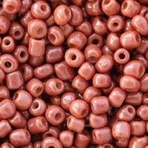Bruin Rocailles glas Bright brown opaque 6/0 (4mm) - 20 gram