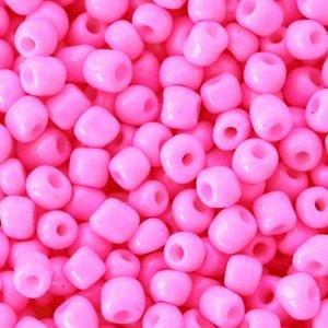 Roze Rocailles glas Light fluor pink opaque 6/0 (4mm) - 20 gram