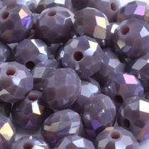 Paars Glaskraal facet rondel paars AB 4x3mm - 50 stuks