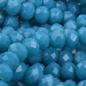 Blauw Facet rondel Turquoise blauw 8x6mm - 35 stuks