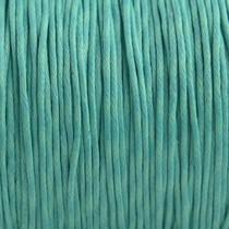 Turquoise Waxkoord turquoise 1mm - 10 meter