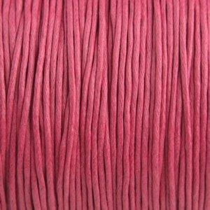 Roze Waxkoord fuchsia roze 1mm - 10 meter