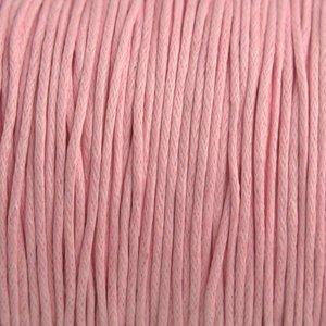 Roze Waxkoord licht roze 1mm - 10 meter