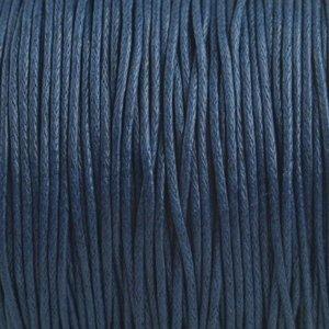 Blauw Waxkoord donker blauw 1mm - 10 meter