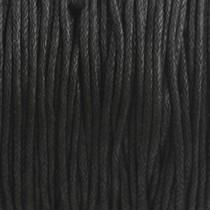 Zwart Waxkoord zwart 1mm - 10 meter