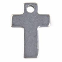 Rvs Bedel kruis Rvs 16x11mm