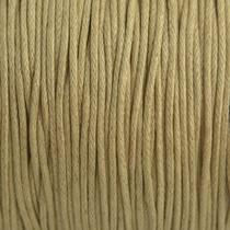 Bruin Waxkoord zand kleurig 1mm - 10 meter