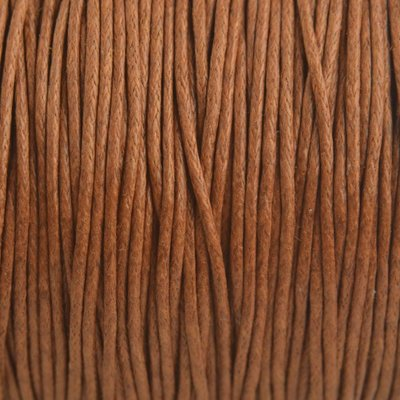 Bruin Waxkoord Cognac bruin 1mm - 10 meter