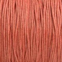 Rood Waxkoord light coral 1mm - 10 meter