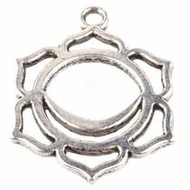 Zilver Bedel buik chakra 'swadhistana' Zilver 30x23mm