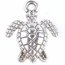 Zilver Bedel schildpad Zilver 16x12.5mm - 5 stuks