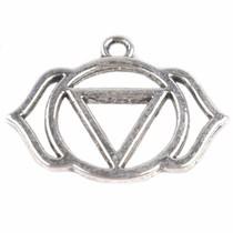 Zilver Bedel voorhoofd chakra 'ajna' Zilver 22.5x29.5mm