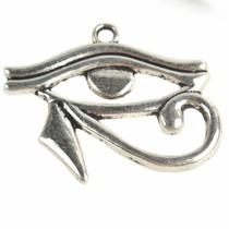 Zilver Bedel Eye of Horus Zilver 27x32mm - 3 stuks