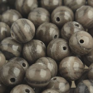 Bruin Edelsteen Black Wood Lace Stone 8mm