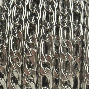 Rvs Schakelketting RVS platte schakel 4,5x9x6,5mm - prijs per 20cm