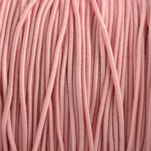 Roze Elastiek poeder roze 1mm - 3m