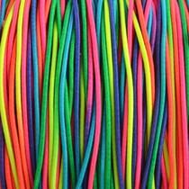 Multicolor Elastiek regenboog DQ 1mm - 3m