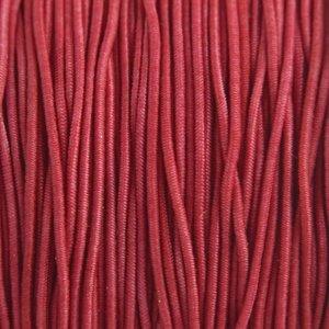 Rood Elastiek bordeaux rood 1mm - 3m