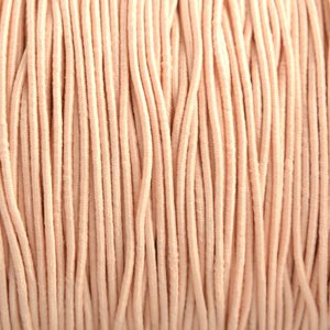 Oranje Elastiek light peach DQ 1mm - 3 meter