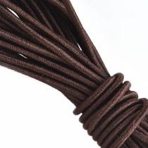 Bruin Elastiek donker bruin DQ 1mm - 3 meter