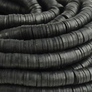 Zwart Disc kralen 6x1mm Zwart ±200 stuks