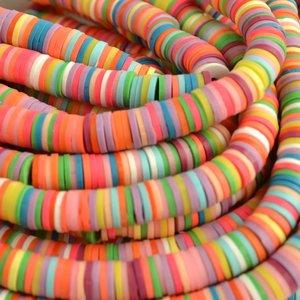 Multicolor Disc kralen 6x1mm Multicolor ±200 stuks