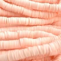 Roze Disc kralen 6x1mm Licht roze ±200 stuks