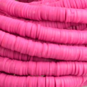 Roze Disc kralen 6x1mm Fuchsia roze ±200 stuks