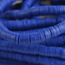 Blauw Disc kralen 6x1mm Donker blauw ±200 stuks