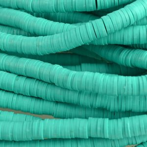 Turquoise Disc kralen 6x1mm Turquoise ±200 stuks