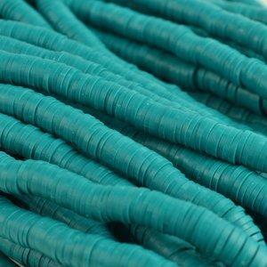 Turquoise Disc kralen 6x1mm Teal ±200 stuks