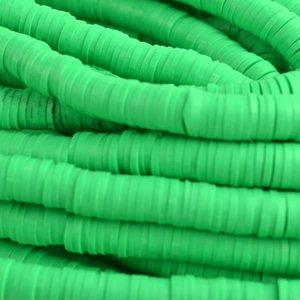 Groen Disc kralen 6x1mm Fel groen ±200 stuks