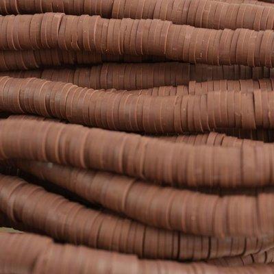 Bruin Disc kralen 6x1mm Bruin ±200 stuks