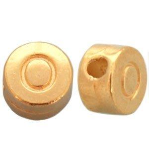 Goud Kraal letter 'O' Ø2mm Goud DQ 7mm