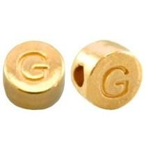 Goud Kraal letter 'G' Ø2mm Goud DQ 7mm
