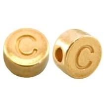 Goud Kraal letter 'C' Ø2mm Goud DQ 7mm