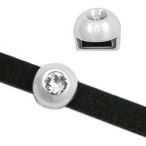 Zilver Schuivers DQ metaal Ø 5x2mm voor PP32 puntsteen Zilver