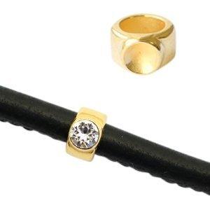 Goud Schuivers DQ metaal Ø 5mm voor PP32 puntsteen Goud