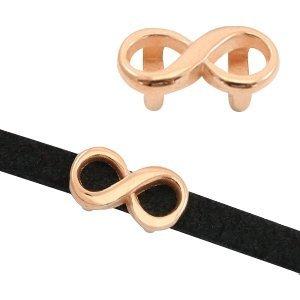 Rosegoud Schuivers DQ metaal infinity Ø5x2mm Rosegoud
