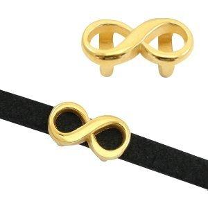 Goud Schuivers DQ metaal infinity Ø5x2mm Goud