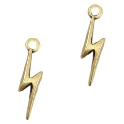 Antiek Goud Brons Bedel lightning Brons DQ 19x5mm
