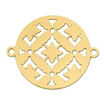 Goud Bohemian tussenzetsel rond Goud 25mm