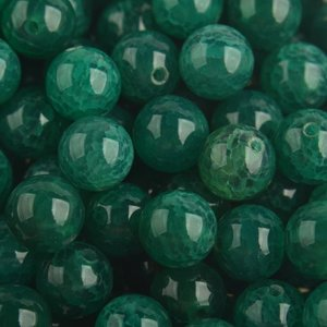 Groen Edelsteen smaragd groen crackle agaat kraal rond 8mm