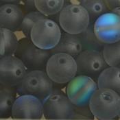 Grijs Edelsteen synthetische maansteen kraal grijs rond 8mm
