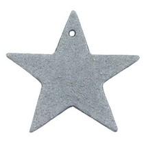 Grijs Leer hanger ster Grey 5x5cm