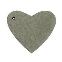 Groen Leer hanger hart Dark olive green 4x4.5cm