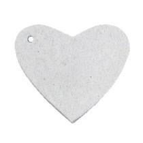 Grijs Leer hanger hart Light grey 4x4.5cm