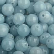 Blauw Edelsteen jade light blue kraal rond 8mm