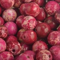 Roze Edelsteen regalite jasper Fuchsia rood kraal rond 8mm