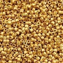 Goud Miyuki Delica Matte 24K Gold Plated 11/0 - 4 gram